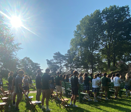 Mass at the Grotto