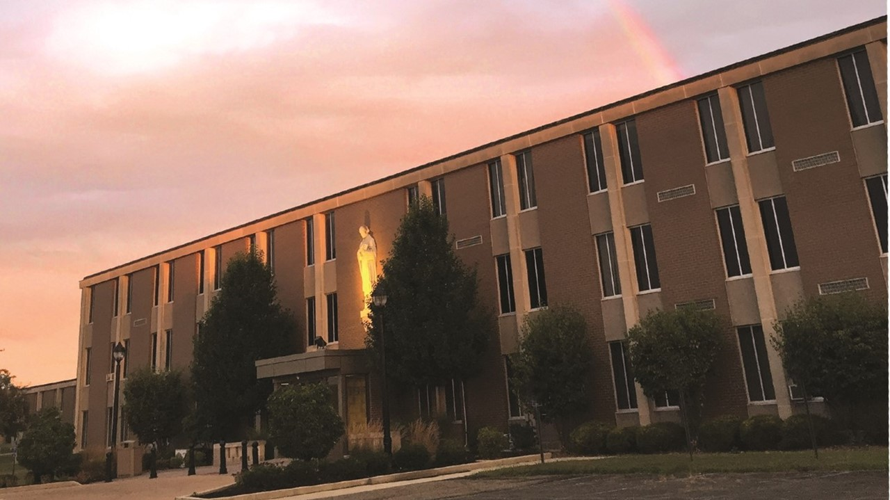 A rainbow over St. Thomas Aquinas