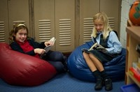 Kids Reading on beanbag chairs