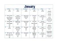january menu